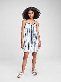 GAP modré detské šaty surplice dress
