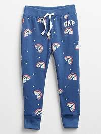 GAP modré detské tepláky s barevnými motivy