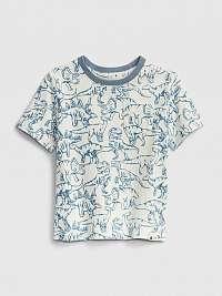 GAP modré detské tričko 100% organic cotton mix and match t-shirt