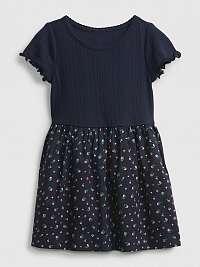GAP modré dievčenské šaty Pointelle