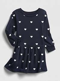 GAP modré dievčenské šaty so srdiečkami