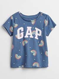 GAP modré dievčenské tričko Logo