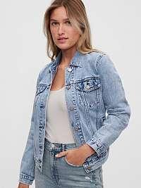 GAP modré džínsová bunda icon denim jacket