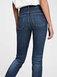 GAP modré džínsy mid rise true skinny