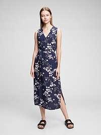 GAP modré kvetované šaty Zen
