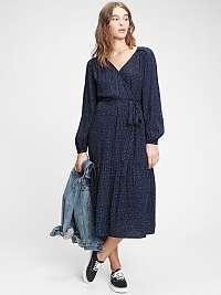 GAP modré midi šaty