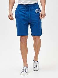 GAP modré pánske kraťasy Logo mini arch shorts