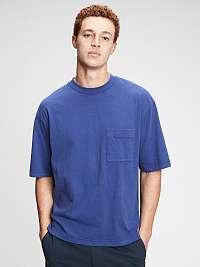 GAP modré pánske oversized tričko
