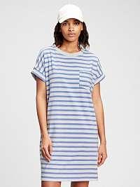 GAP modré pruhované šaty