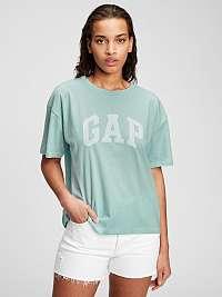 GAP modré tričko s bielym logom