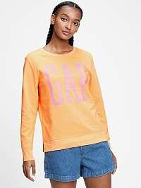 GAP oranžová mikina s logom