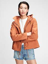 GAP oranžové bunda cropped anorak