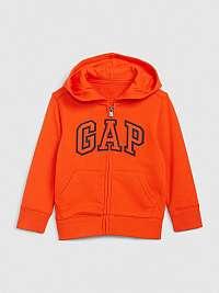 GAP oranžové chlapčenská mikina