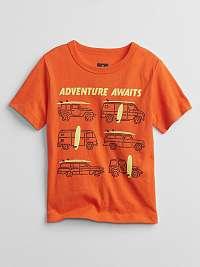 GAP oranžové chlapčenské tričko Mix and Match