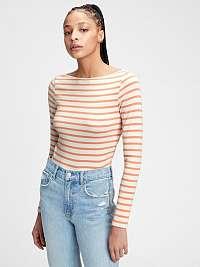 GAP oranžové dámske tričko ls mod bateau str