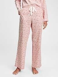 GAP ružové dámske pyžamové nohavice poplin pajama pants