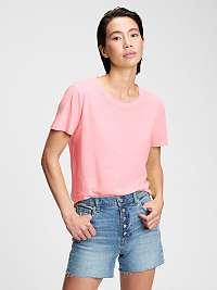 GAP ružové dámske tričko organic vintage