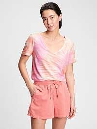 GAP ružové dámske tričko ss org vint vn