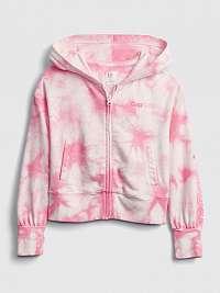 GAP ružové detská mikina Logo fz