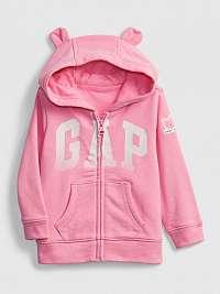 GAP ružové detská mikina Logo hoodie