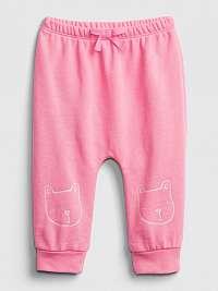 GAP ružové detské tepláky brannan bear pull-on pants