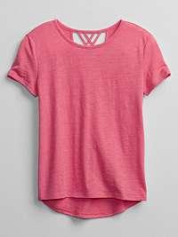 GAP ružové detské tričko v-crossback