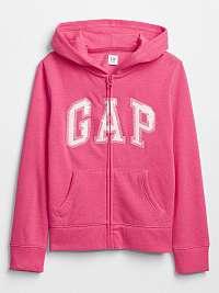 GAP ružové dievčenská mikina s flitry