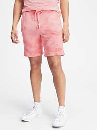 GAP ružové pánske kraťasy Logo tie-dye pull-on