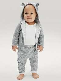 GAP sivé baby mikina s kapucňou