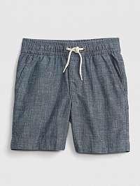 GAP sivé detské kraťasy chambray pull-on shorts