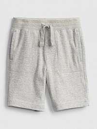 GAP sivé dětské kraťasy organic mix and match pull-on shorts