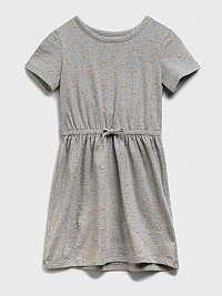 GAP sivé detské šaty knit skater dress