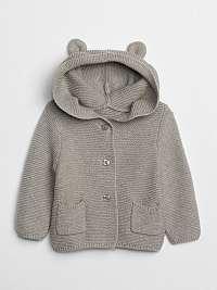 GAP sivé dětský sveter s oušky