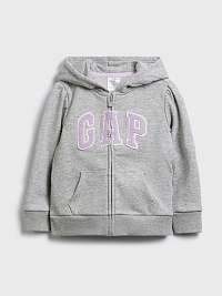 GAP sivé dievčenská mikina Logo
