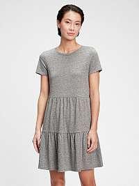 GAP sivé šaty Tiered