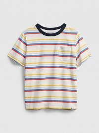 GAP Stripe Tričko detské Biela Viacfarebná