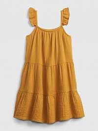 GAP Tier Šaty detské Žltá