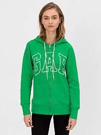 GAP zelená mikina Logo s kapucňou