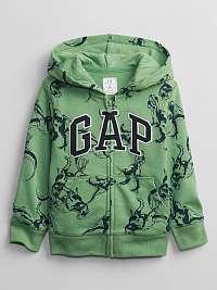 GAP zelené chlapčenská mikina s kapucňou