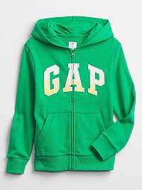 GAP zelené detská mikina Logo v-spr fshn fz