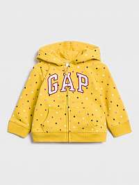 GAP žlté dievčenská mikina
