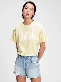 GAP žlté tričko s bielym logom