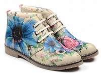 Goby farebné členkové topánky Flowers