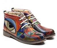 Goby farebné členkové topánky Picasso