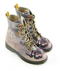 Goby farebné topánky Butterfly Dream