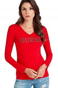 Guess červené tričko Rhinestone