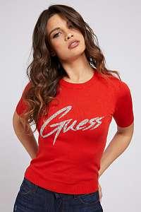 Guess červené tričko Triangle Logo