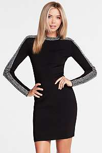 Guess čierne šaty Rhinestones Dress