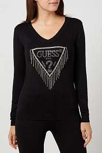 Guess čierne sveter s logom