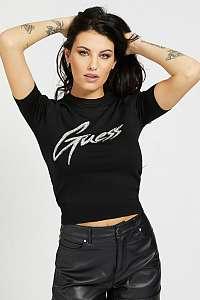 Guess čierne tričko Front Logo